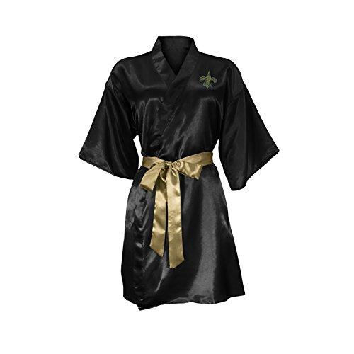 NFL New Orleans Saints Satin Kimono, Large/XL