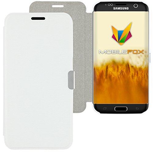 Mobilefox Magneto Schutzhülle Flip Case Samsung Galaxy S7 Edge Weiß