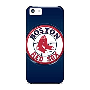 Shock Absorbent Hard Cell-phone Cases For Iphone 5c (ldN15532LGZm) Custom Fashion Boston Red Sox Pattern
