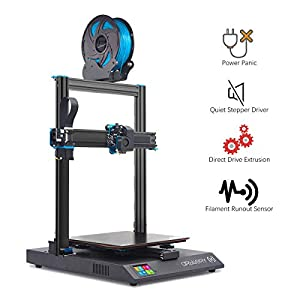 Artillery sidewinder x1 3d printer – newest v4 version lattice glass heat bed aluminum extrusion frame filament run out sensor power failure recovery quiet 3d printing