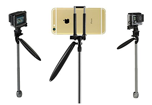 Portable Handheld Mini Video Stabilizer (Gimbal) for ANY Smart Phone or Digital Video Camera Capture Device - Create Professional Action Videos Like a Pro - Simple to Use - Folds Into Your Pocket by Sharper Sales