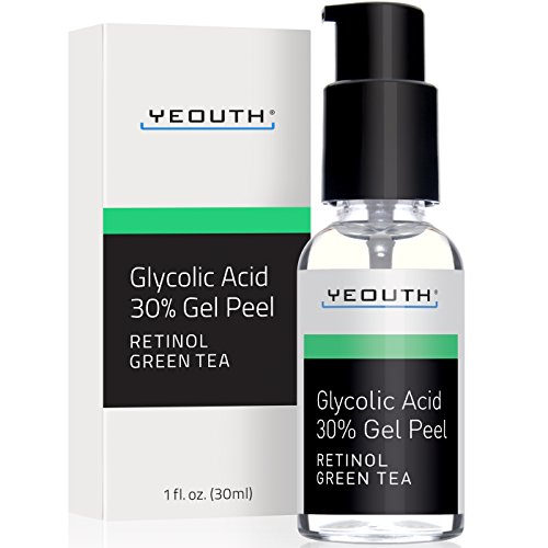 Glycolic Acid Peel 30% Professional Chemical Face Peel with Retinol, Green Tea Extract, Acne Scars,...