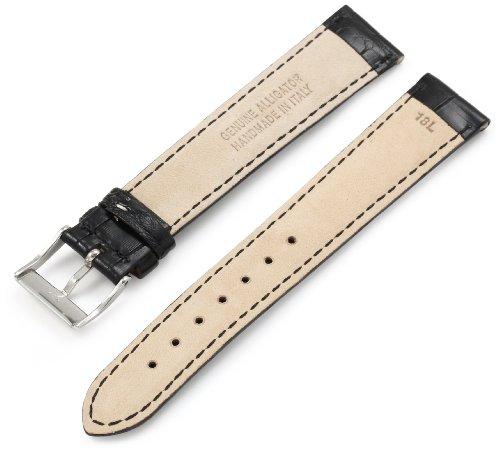 Artisan-of-Italy-AITPD600-0118ML-Mens-Dress-Padded-Matte-Alligator-18mm-Black-Long-Watch-Strap