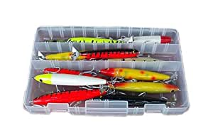 Deluxe Peacock Bass Kit Lure Assortment Top Water Bait for Peacock Bass Snook Tarpon Red Fish Trout Saltwater Artificial Lures