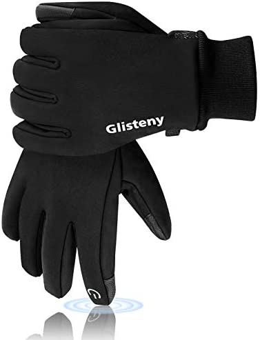 Glisteny Winter Gloves Men Women Touchscreen Waterproof Glove Cold Weather Warm Gloves Workout Gloves Running Cycling Training