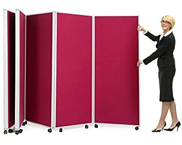 Mobile Concertina Screens Room Dividers 5 Panel Display Board System ...