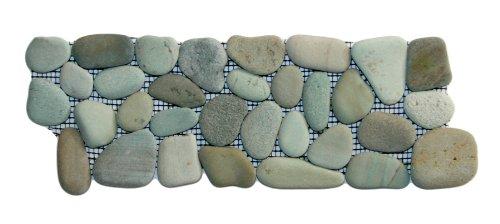 Sea Green Pebble Tile Border 1 Piece 4