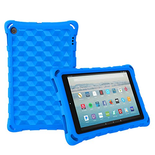All-New Amazon Fire HD 10 Tablet Case (2015 and 2017 Released) - Mr.Spades [Adult Friendly] [Kids Friendly] [Four Corner Protection] Light Weight Shock Proof Back Cover for Fire HD 10.1