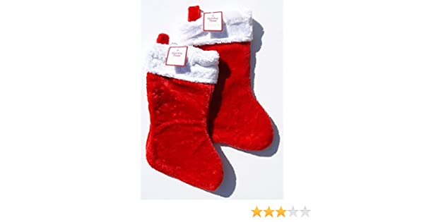NEW  Christmas Red  Stockings Holiday Decorations Calceta Stocking