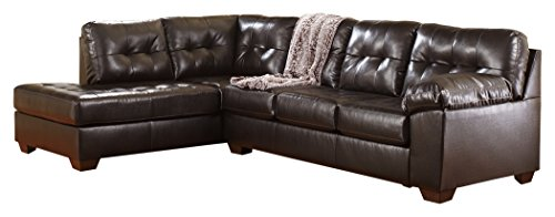 Ashley Furniture Signature Design - Alliston 2-Piece Sectional - Right Arm Facing Sofa & Left Arm Facing Corner Chaise - Chocolate Brown