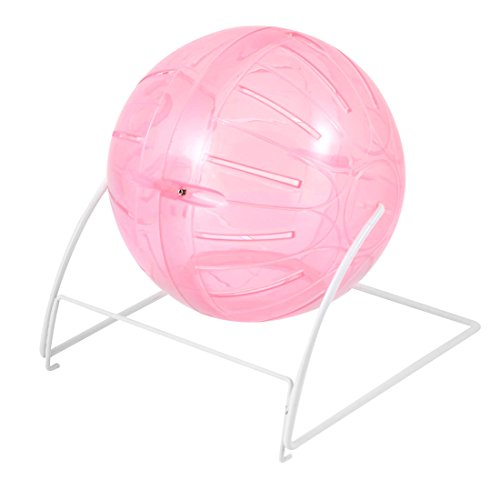 uxcell Pet Hamster Gerbil Mice Exercise Workout Ball Clear Pink 11cm Dia 41cMAS4E78L