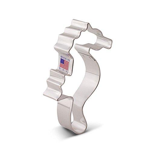 Ann Clark Cookie Cutters - Seahorse Cookie Cutter - 4 3/4-inch - USA Made Steel