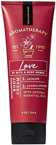 Bath and Body Works Aromatherapy LOVE - JASMINE + SANDALWOOD Body Cream 8 Ounce (2019 Limited Edition)
