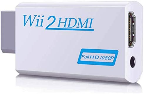 00 Wii to HDMI Converter,Output Video Audio Adapter HDMI Converter 1080P,Wii HDMI Adapter with 3,5mm Audio Jack&HDMI Output Compatible with Wii, Wii U, HDTV, Supports All Wii Display Modes 720P
