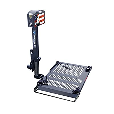 Harmar Mobility AL010 Micro Power Wheelchair Lift Outside Fully Automatic Carrier with Hitch Adapter & Wiring Harness & Swing-Away Arm
