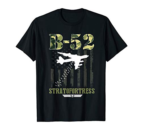 B-52 Stratofortress T-Shirt USA Bomber Flag Distressed Tee