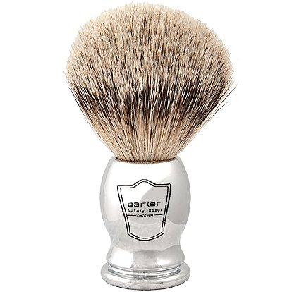 (Parker Safety Razor 100% Silvertip Badger Bristle Shaving Brush (Chrome Handle) and Free Shaving Brush Stand)