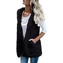 Spbamboo Womens Vest Coat Winter Warm Hoodie Outwear Casual Faux Fur Zip Jacket