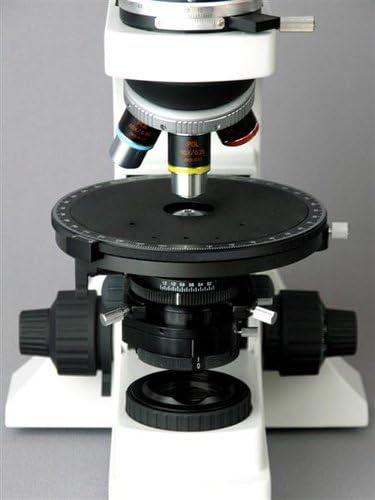 OMAX 40X-600X Lab Trinocular Polarizing Quadruple Nosepiece Microscope+Bertrand Lens with 5MP Camera