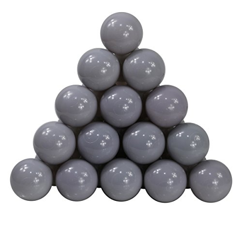 Langxun Pack of 200 Silver ( Gray ) Ball Pit Balls - Phthalate Free BPA Free Crush Proof Plastic Ball | Ideal Gifts for Kids & Photo Booth Props for Baby and Kids by Langxun (Image #2)