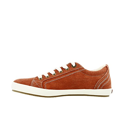 Taos Footwear Damen Star Fashion Sneaker Burnt Orange Wash Leinwand