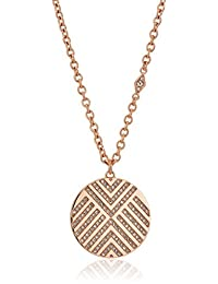 Fossil Womens Chevron Signature Glitz Pendant Necklace