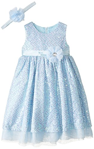 Disney Little Girls' Princess Cinderella Dress with Matching Tiara, Blue, 5 -