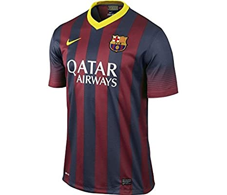fb683f7534e Buy Nike FCB SS Home REPL Polyester Football Jersey, Men's Medium (Red &  Blue) Online at Low Prices in India - Amazon.in