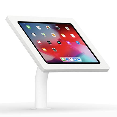 (VidaMount White Enclosure and Fixed Neck Wall/Table Surface Mount [Bundle] Compatible with iPad Pro 12.9