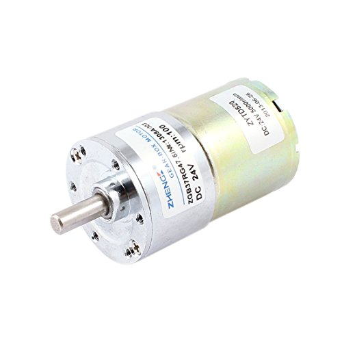 uxcell 100RPM DC 24V Speed Reduce Gear Box Electric Motor