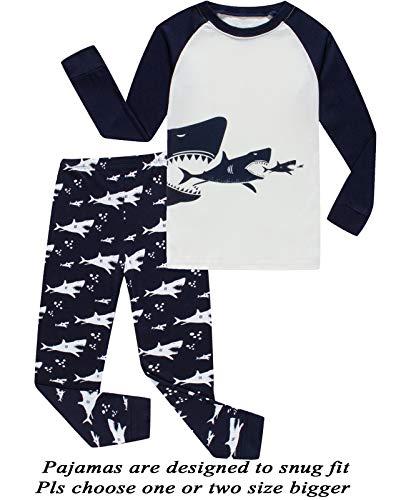 Boys Girls Christmas Pajamas Reindeer Cotton Toddler Clothes Kids Pjs Children Sleepwear Size 3T -