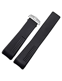 NW 22mm Silicone Rubber Diver Watch Strap Band Fit TAG HEUER CARRERA Clasp