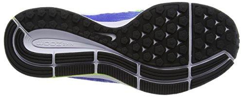 Nike Wmns Air Zoom Pegasus 33, Scarpe da Corsa Donna Blu (Med Blue/White/Aluminum/Deep Night/Volt/Black)