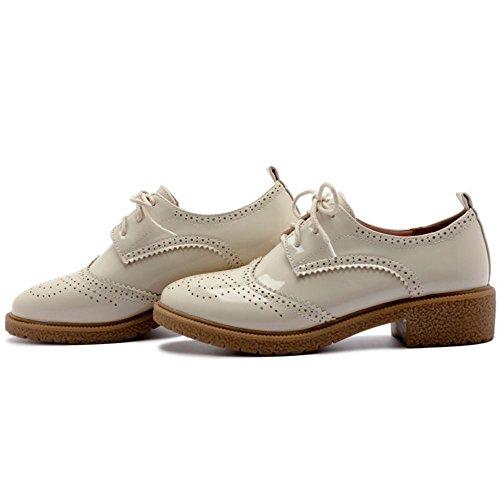 OxfGoldd Beige Zanpa Mode Femmes Chaussures EwnT7p