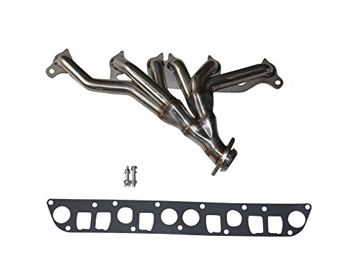 speedracingturbo Jeep Grand Cherokee Wrangler 91-99 4.0L L6 Stainless Manifold Header w/ Gaskets QITONG AUTO PARTS