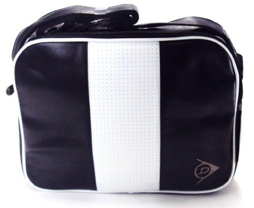 Dunlop Perforated Stripe Shoulder Bag Black
