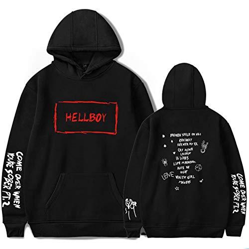 Lil Peep Falling Down Hell Boy Hoodies Sweatshirt Black White Multicolored 3D Print Colorful Cotton Unisex R.I.PCry Baby 113