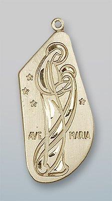 14kt Gold Ave Maria Medal