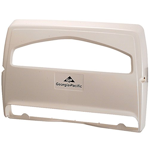 Safe-T-Gard 1/2 Fold Toilet Seat Cover Dispenser by GP PRO (Georgia-Pacific), White, 57710, 16.375