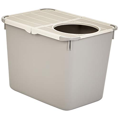 AmazonBasics Cat Litter Box, Top Entry