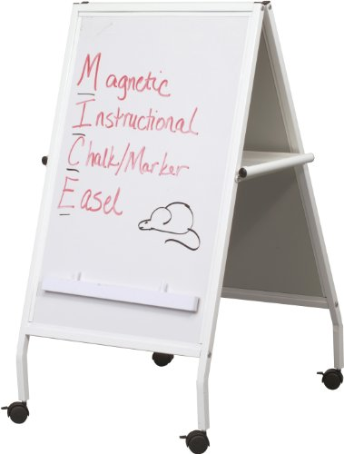 Best-Rite White MICE Combo Easel, Dry Erase Marker & Chalk Surfaces (803) by Best-Rite