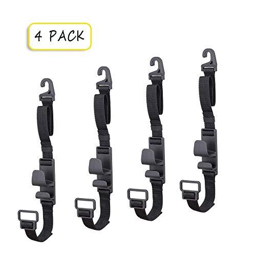 4 Pack Car Seat Headrest Hooks by Villexun , Strong Durable Backseat Headrest Hanger Storage For Handbags, Purses, Coats, and Grocery Bags, Universal Vehicle Car Seat Back Headrest Bottle Holder