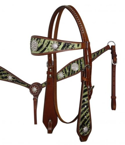 browband headstall breast print Rhinestone conchos product image