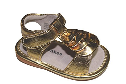 Laniecakes Gold Wave Squeaky Shoes Sandals