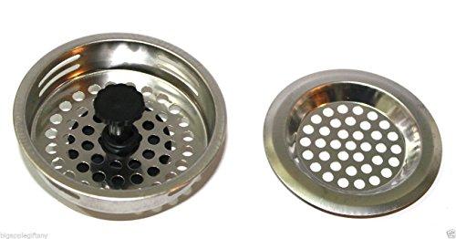 Sink Strainer Stainless Steel Kitchen Drain Basket Bathroom 2 - Wickes.co.uk