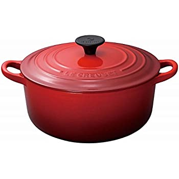 Le Creuset Enameled Cast-Iron 3-1/2-Quart Round French Oven, Cherry