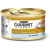 Purina GOURMET Gold Feine Pastete, hochwertiges Katzennassfutter, Tiernahrung, zarter Genuss, für anspruchsvolle Katzen, 12er Pack (12 x 85 g Dose)