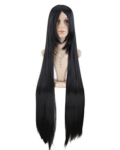 Japanese Anime Long Black Straight Cosplay Wig Ml120