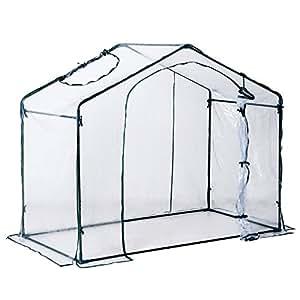 Outsunny 6 x 3.5 x 5ft Portable Garden Greenhouse Mini Flower Plant Growing Warm House Transparent