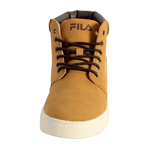 De Ante De Mediados Deporte De Byram Hombre Moda Fila Zapatillas Zapatos De Cuero Amarillento De RwxFqWBaWP